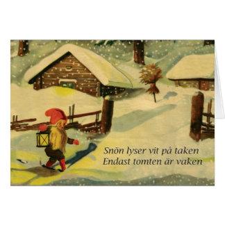 Tomten Weihnachtskarte mit Gedicht Viktor Rydberg Grußkarte