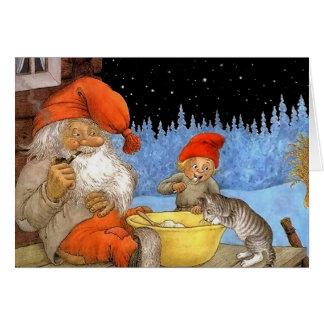 Tomtes skandinavische Elf-Weihnachtskarte Karte