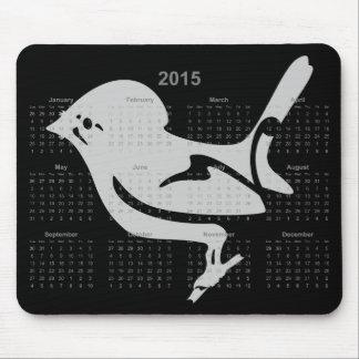 Tomtit, Miromiro, Kalender Neuseeland-Vogels 2015 Mousepad