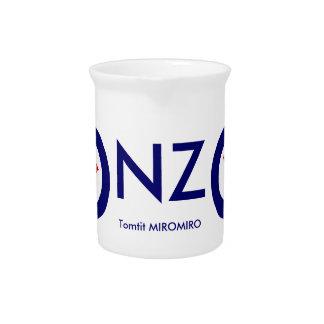 Tomtit roundel | Neuseeland Vogel Getränke Pitcher
