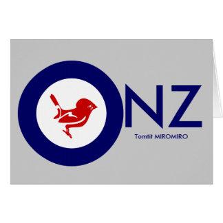 Tomtit roundel | Neuseeland Vogel Karte