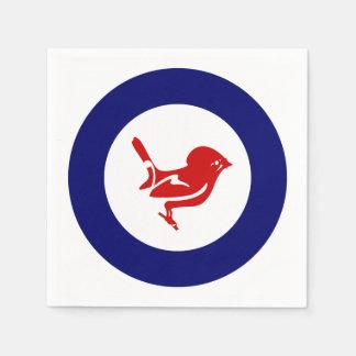Tomtit roundel | Neuseeland Vogel Serviette
