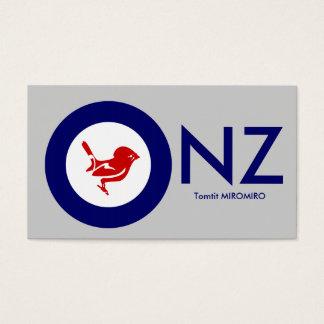 Tomtit roundel | Neuseeland Vogel Visitenkarte