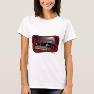 Ton 54 Chevy frisiertes Auto des Schwarz-zwei in T-Shirt