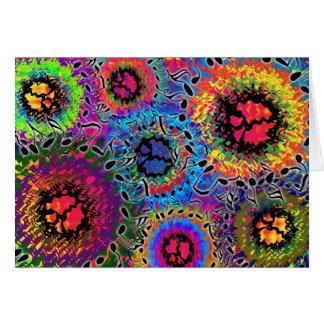 Ton färbt psychedelisch karte