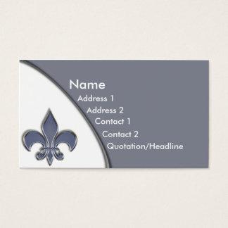 Ton-Geschäfts-Karte KRW blaue Lilien-zwei Visitenkarte