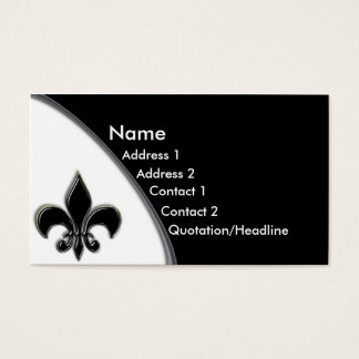Ton-Geschäfts-Karte KRW schwarze Lilien-zwei Visitenkarte