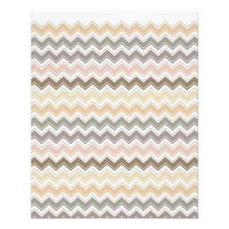 Ton-Muster des eleganten Zickzack Designers Erd 11,4 X 14,2 Cm Flyer