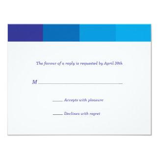Tonal blaue Bar Mitzvah Antwort 10,8 X 14 Cm Einladungskarte