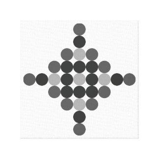 Tonal graues geometrisches abstraktes leinwanddruck