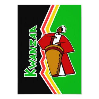 Töne der Feiertags-Party Einladung Kwanzaas