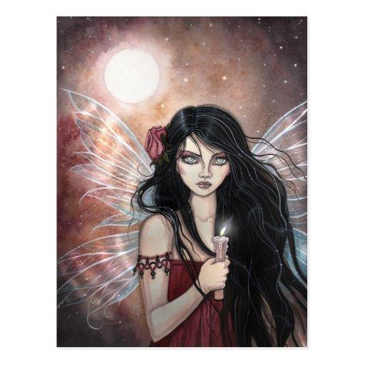 Tönerne Dämmerungs-Fantasie-Fee-Postkarte