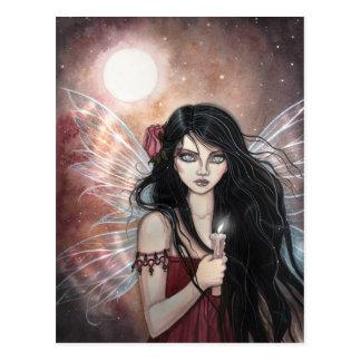 Tönerne Dämmerungs-Fantasie-Fee-Postkarte Postkarte