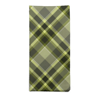 Earthen Plaid Green Tones, matching Cloth Napkin