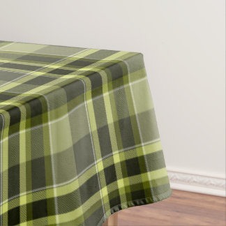 Earthen Plaid Green Tones, matching Tablecloth