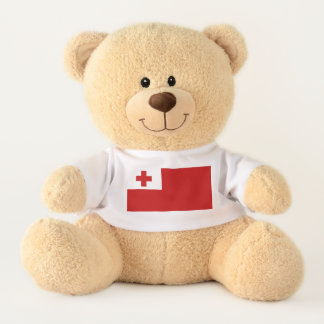 Tonga-Insel-Flaggen-rotes Kreuz Teddy
