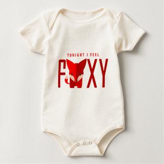 tonight i feel foxy little fox comic baby strampler