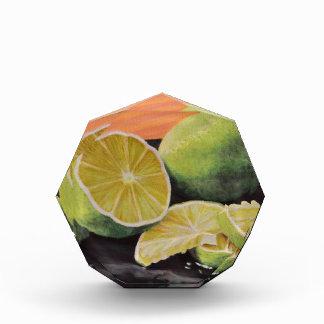 Tonisch und Limon Acryl Auszeichnung