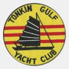 Tonkin Golf-Yachtclub-Aufkleber Runder Aufkleber