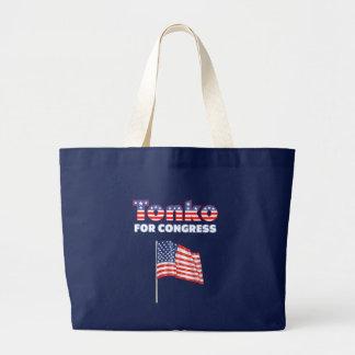 Tonko für Kongress-patriotische amerikanische Flag Jumbo Stoffbeutel