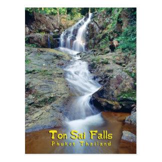 Tonne Sai Wasserfall, Phuket, Thailand Postkarte