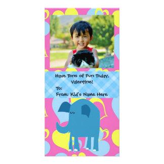 Tonnen Spaß, Elefant scherzt Valentinstag Individuelle Foto Karten