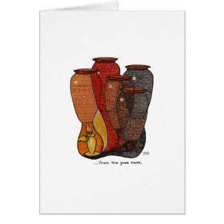 Tonwaren-Keramikkunstanerkennungs-Grußkarte Karte