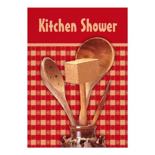 Tonwaren-Küchen-Duschen-Einladungen