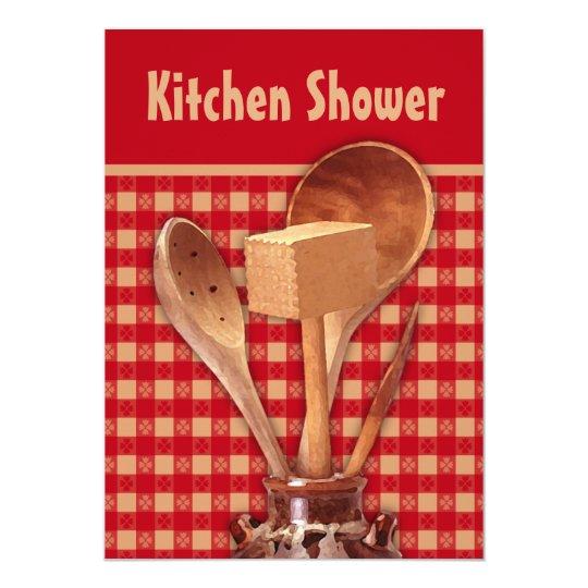 Tonwaren-Küchen-Duschen-Einladungen 12,7 X 17,8 Cm Einladungskarte