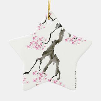 tony fernandes Kirschblüte mit rosa Goldfisch Keramik Ornament