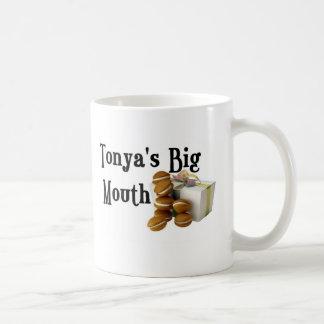 Tonyas große Mund-Sammlung Kaffeetasse
