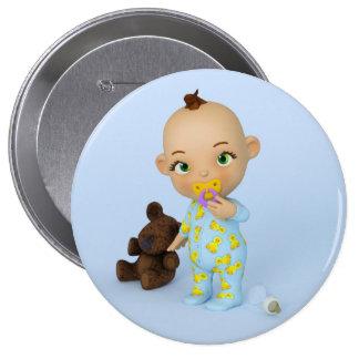 Toon-Baby-Knopf Anstecknadel
