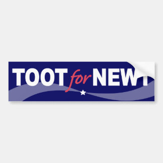 TOOT für Newt Gingrich 2012 Autoaufkleber