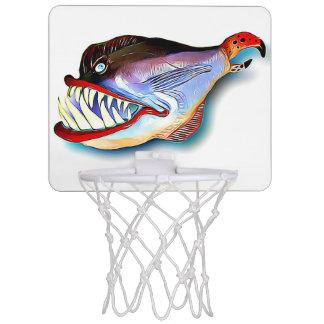 Toothy Fische Mike-Quinns mit Haltung Mini Basketball Netz