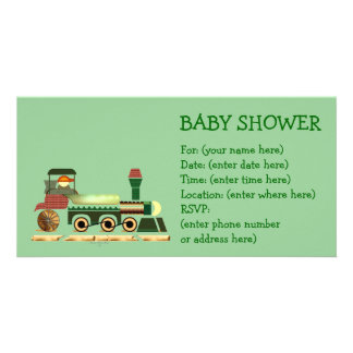 Toottoot-Zug 2 Babyparty Photokartenvorlagen