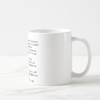 Top 10 Sachen, die in Gesetz 10 schmutzig klingen Kaffeetasse