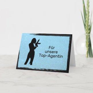 Top-Agentin blau Karte