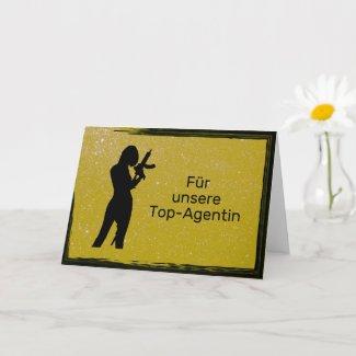 Top-Agentin gold Karte