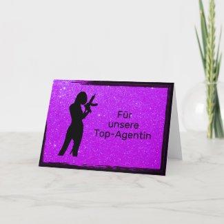 Top-Agentin lila Karte
