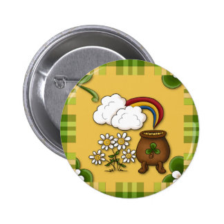 Topf Goldst patrick Tagesdes Button-Knopfes Runder Button 5,7 Cm
