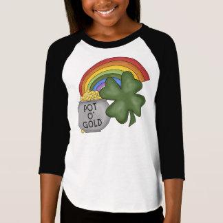 Topf O Gold - kundenspezifischer Mädchen T - Shirt