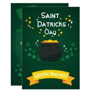 Topf Party Einladungen St. Patricks des Gold|