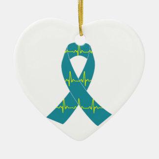 TÖPFE Krieger Keramik Herz-Ornament