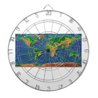 Topographische Erde Dartscheibe