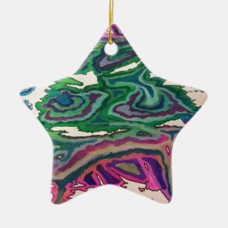 Topographische Seidenpapier-Kunst II Keramik Stern-Ornament