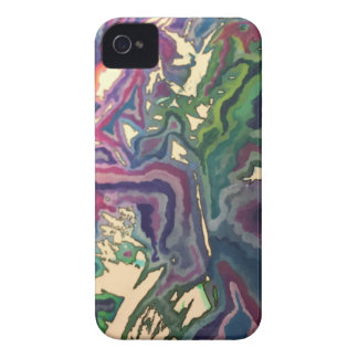 Topographische Seidenpapier-Kunst IV Case-Mate iPhone 4 Hülle
