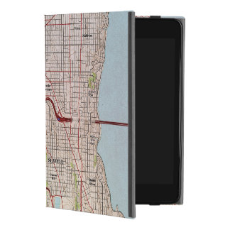 Topographische Stadt-Karte Seattles iPad Mini 4 Hülle
