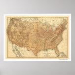Topographische USA-Karte - 1883