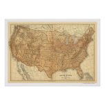 Topographische USA-Karte - 1883 Poster
