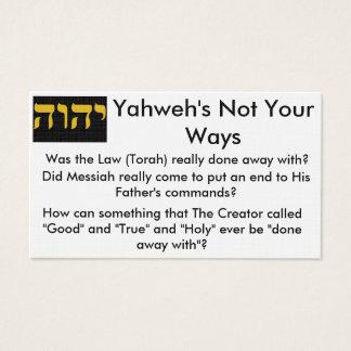 Torah Flächen-Karten Visitenkarte